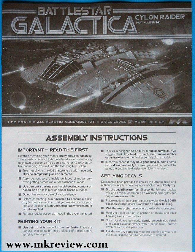 New Moebius 1/32 Cylon Raider Review | Model Kits Review