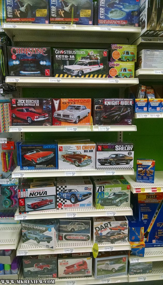 New model kits selection at Michaels stores | Model Kits Review