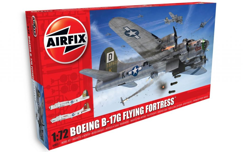 New Airfix Boeing B 17g Flying Fortress 172 Model Kits Review