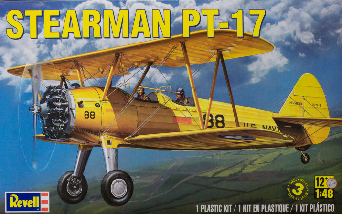 1/48 Stearman PT-17 Plastic Model Kit | Model Kits Review