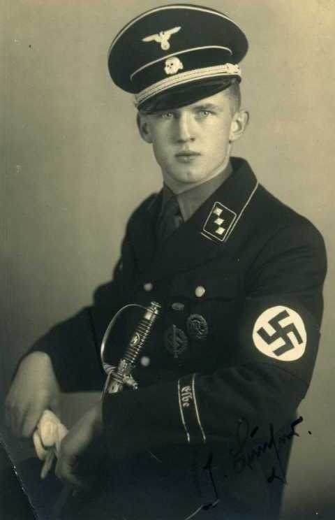 A young member of the SS wearing the distinctive uniform. a6350827b2b