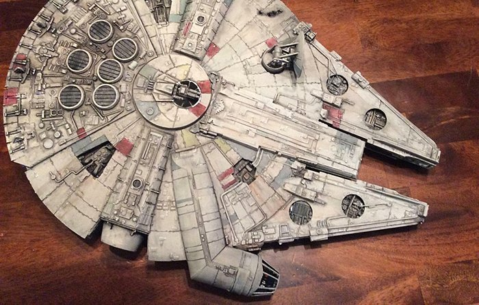 Building a model of the iconic Millenium Falcon